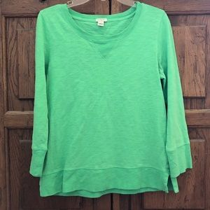 J. Crew Green Crew Neck Top